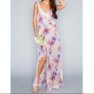 Show Me Your Mumu Kendall Maxi Dress with a Ring